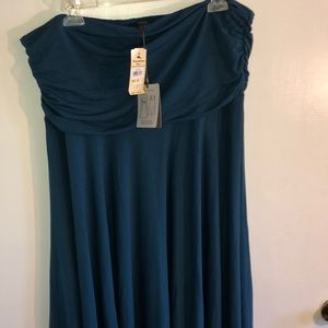 NWT Tommy Bahama convertible teal blue dress.
